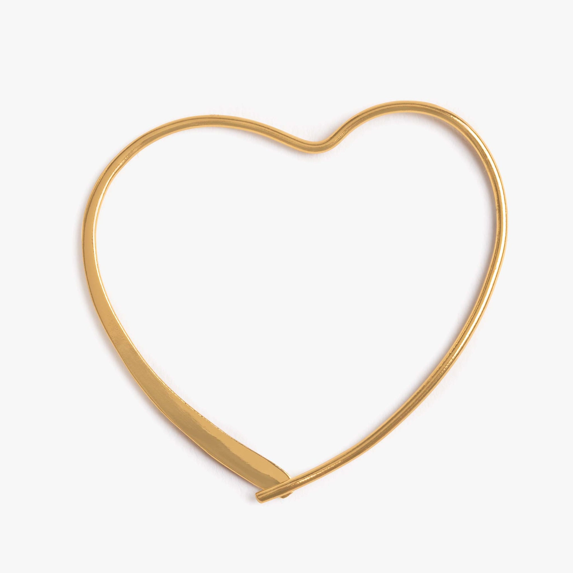 Large Slim Heart Hoop