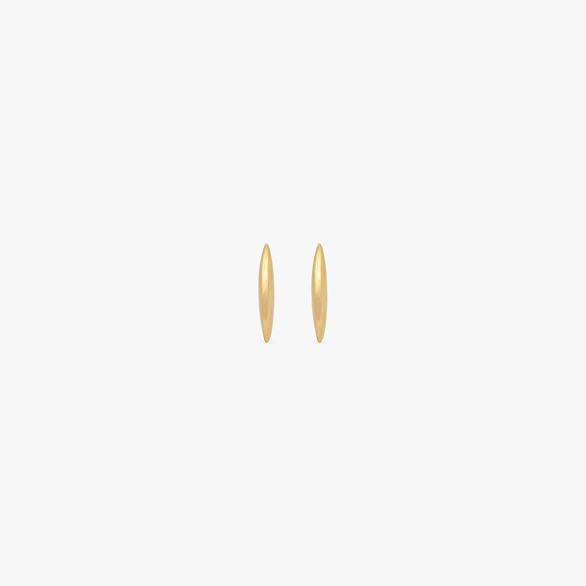 Raised thin bar stud. [pair] color:gold
