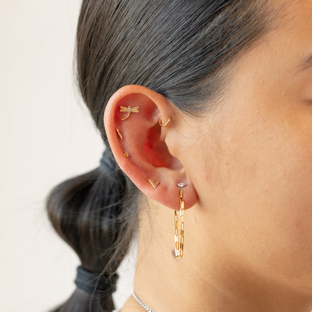 Continuous Chain Earring