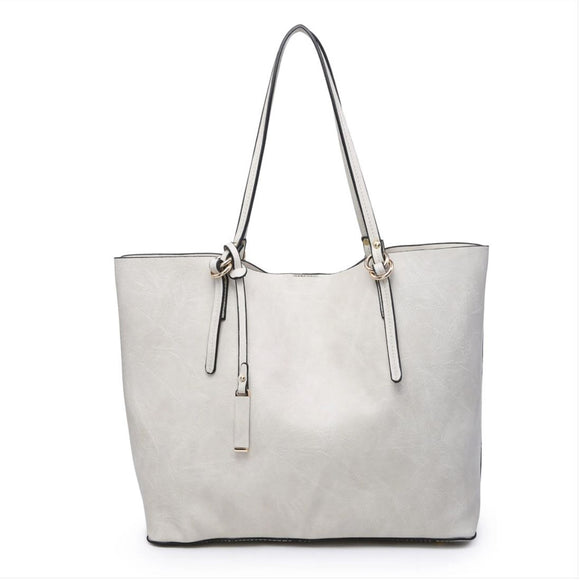 Christy Tote Bag - Light Grey