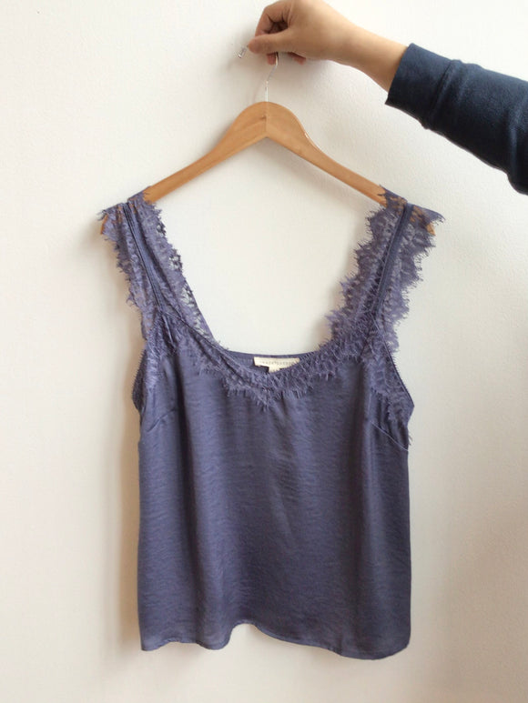 Bernadette Tank Top - Dusty Blue - (Size L, runs smaller)