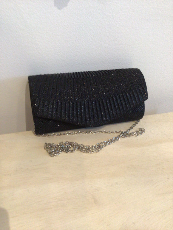 Party Clutch with Sparkles - Black