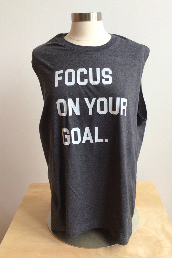 Focus on Your Goal Tank Top - Charcoal Gray (XL, XXL)