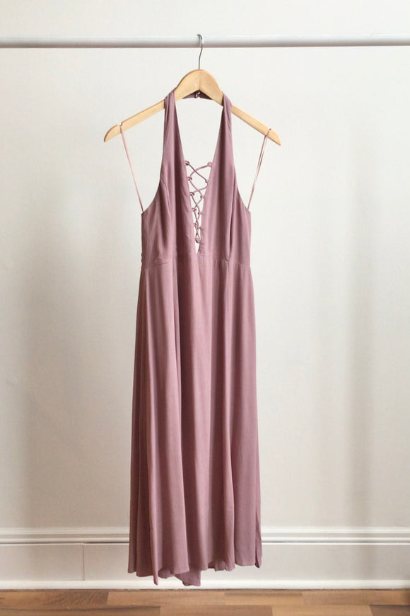 Dusty Purple Halter Dress (Size M)