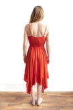 Ami Spaghetti Strap Dress - Burnt Orange