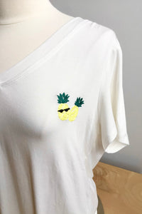 Solange Pineapple Tee - Off White (Size M)