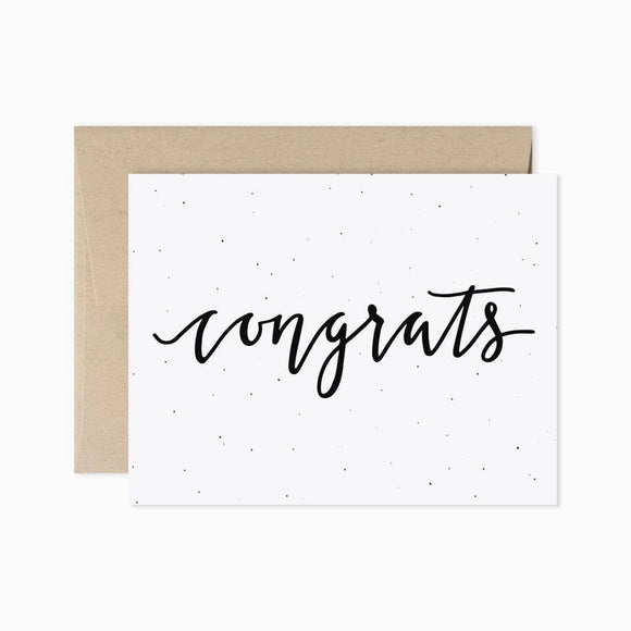 Card - Congrats in Cursive
