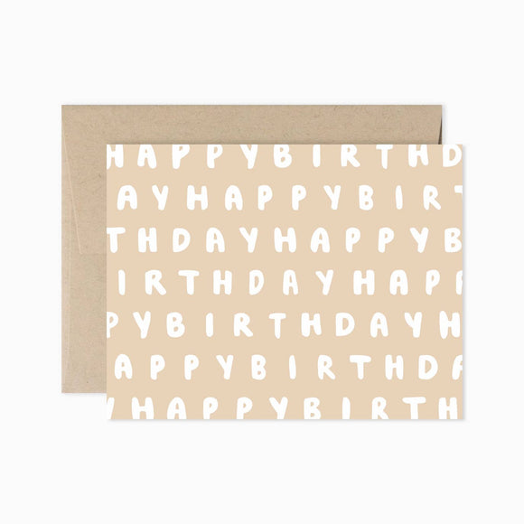 Card - Happy Birthday Repeated