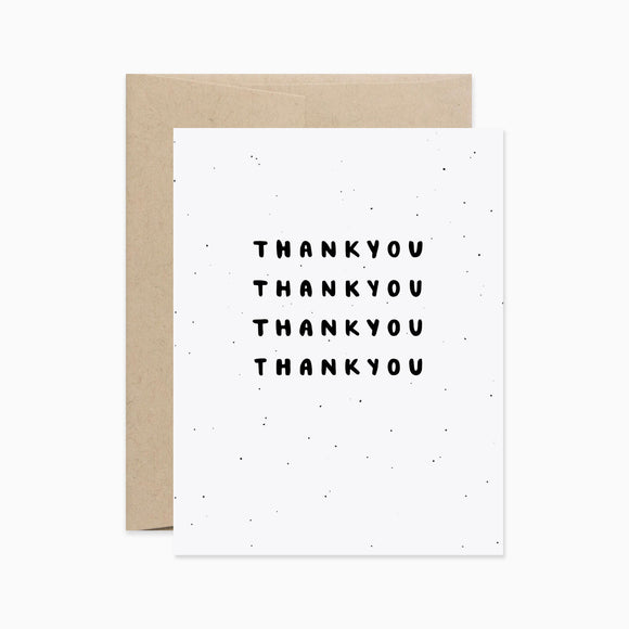 Card - Thank You Repeated