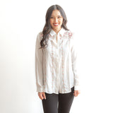 Celeste Button Down Boho Top - Ivory