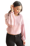 Elise Long Sleeve Top - Blush Pink - FINAL SALE
