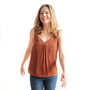 Farzeen Tank Top - Deep Copper - FINAL SALE