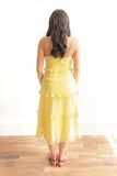 Gabriela Eyelet Midi Dress - Yellow - FINAL SALE