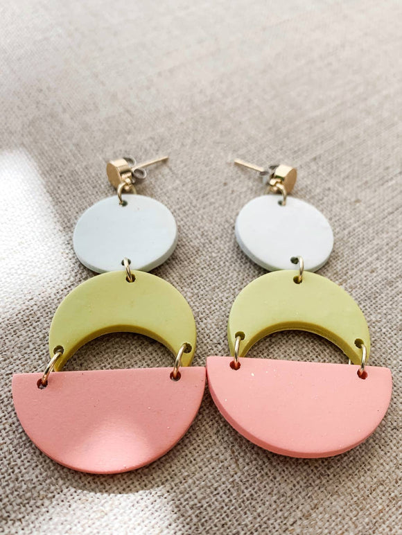 Geometric Spring Dangle Earrings