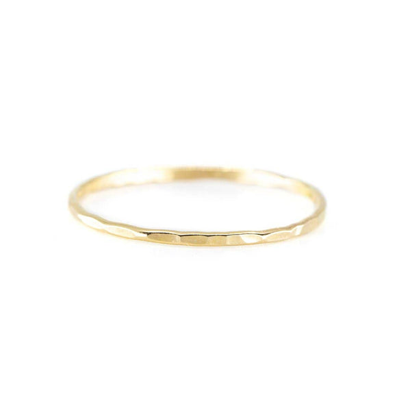 Hammered Stacking Ring - Gold or Silver