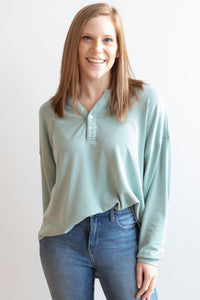 Joan Top - Mint Gray
