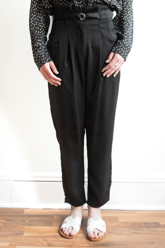 Jolie High Waist Pants - Black - FINAL SALE