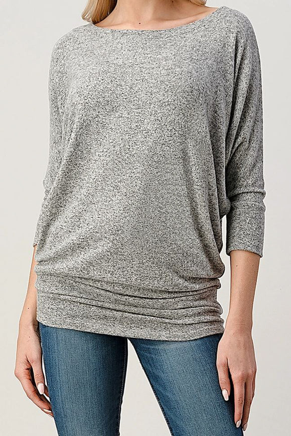 Kaylie Top - Heather Grey