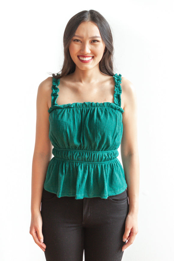 Kelly Tank Top - Green - FINAL SALE