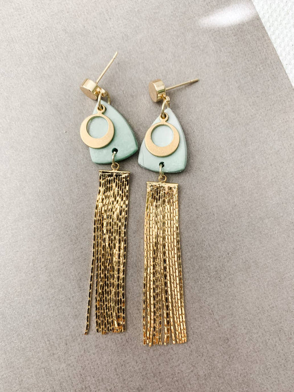 Mint Drop Dangle Earrings