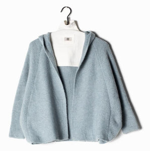 Omaira Cape Sweater Cardigan - Dusty Blue