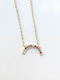 Rainbow Arc Necklace