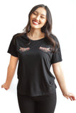 Eve Rainbow Eyelash Tee - Black