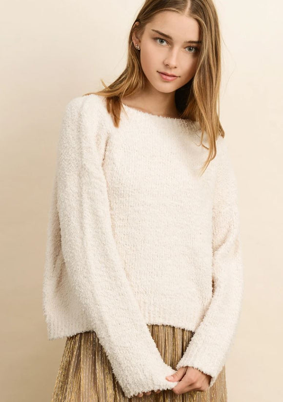 Rocelyn Sweater - Cream or Tan Brown