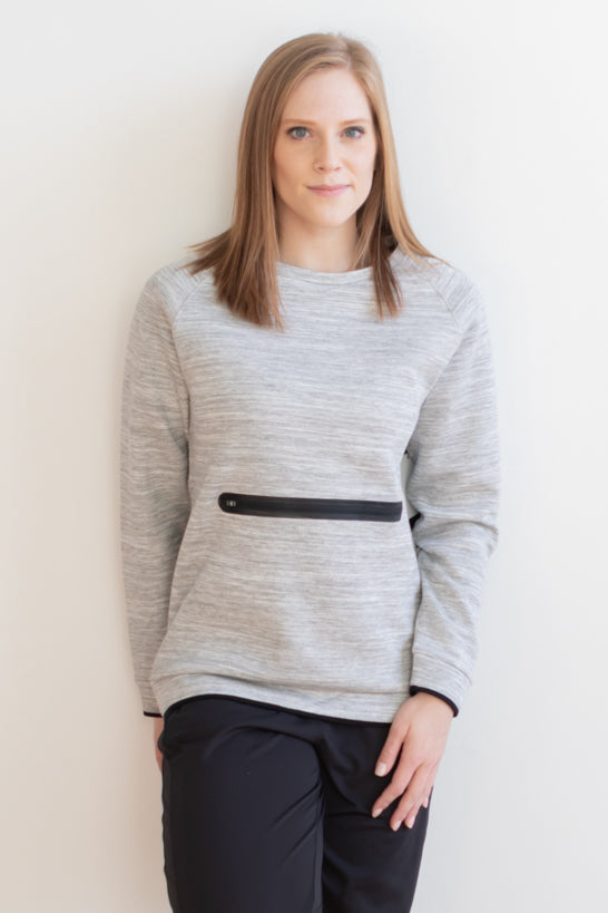 Shelby Pullover Sweater - Heather Gray