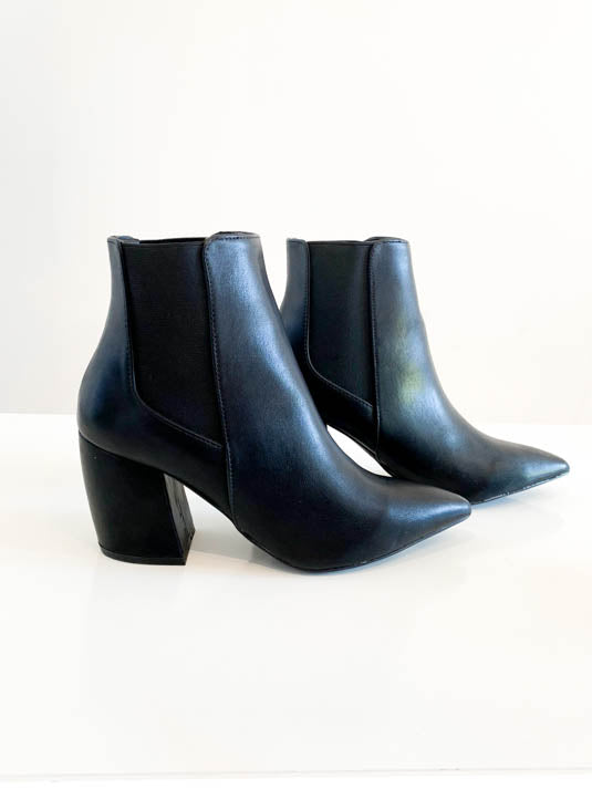 Lana Black Pointed Toe Bootie