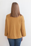 Sunita Mock Neck Top - Dijon Yellow