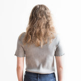 Susan Short Sleeve Top - Gray