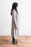 Tara Long Sleeve Duster Cardigan - Gray