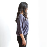 Phaley Boxy Knit Top - Blue Violet