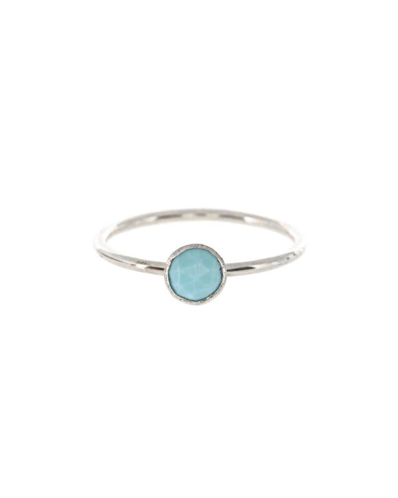 Medium Turquoise Stacking Ring - Gold or Silver