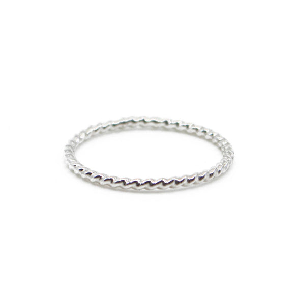 Twist Stacking Ring - Gold or Silver