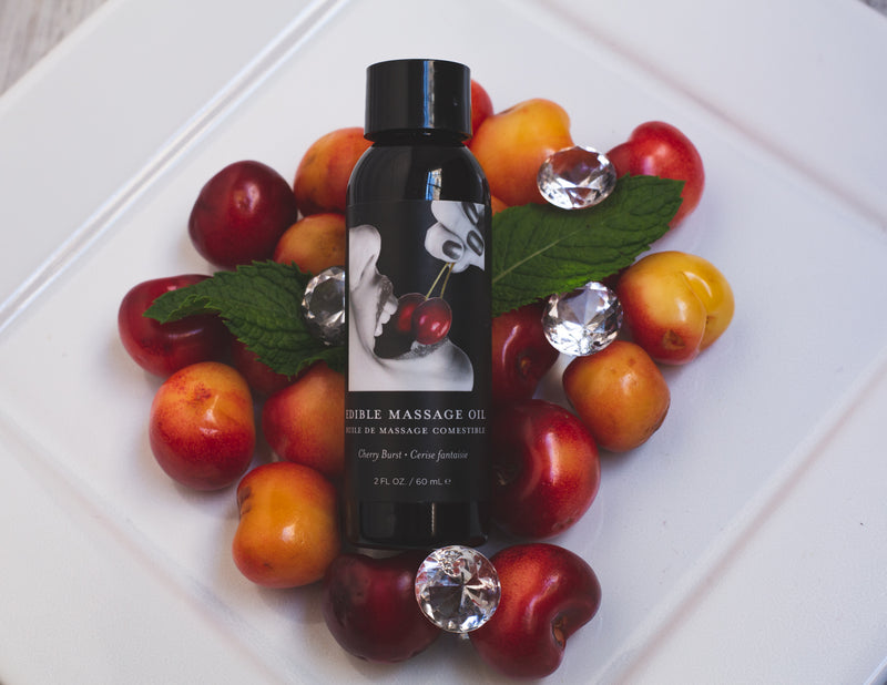Earthly Body Edible Cherry Burst Body Massage Oil | Toyz for me
