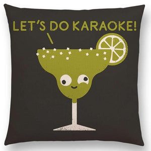 'Let's Do Karaoke' Pillow Case