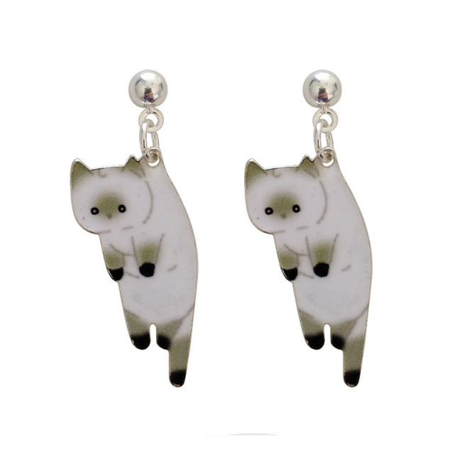Lazy Cat Earings