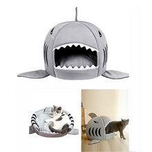 Load image into Gallery viewer, Shark Pet House with Removable Bed Cushion