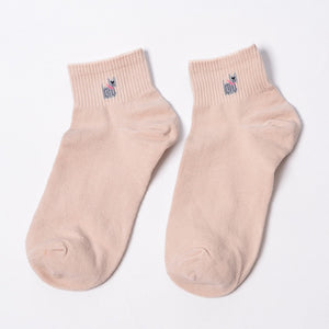 Cute Dog 100% Cotton Short Socks