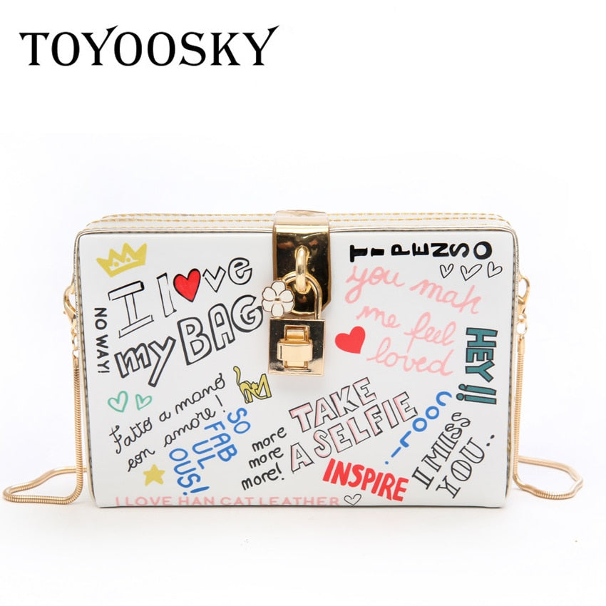 Cross body Graffiti Bag