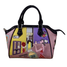 "Load image into Gallery viewer, ""Souvenir From France"" Leather Handbag"
