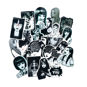 Horror Japanese Stickers (21 pcs)