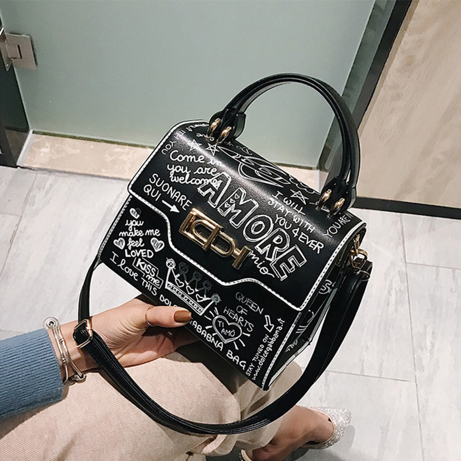 AMORE Graffiti Cross Body Bag