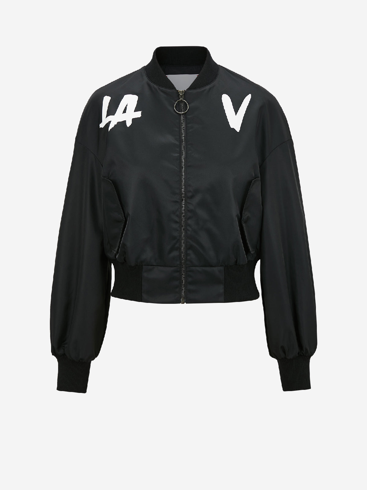 La V Zip Up Bomber Style Jacket