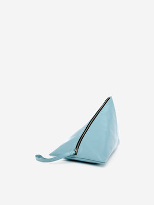 'LOVE' letter embossed leather triangle pouch