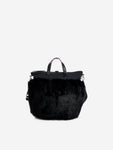 Faux fur nylon shoulder bag