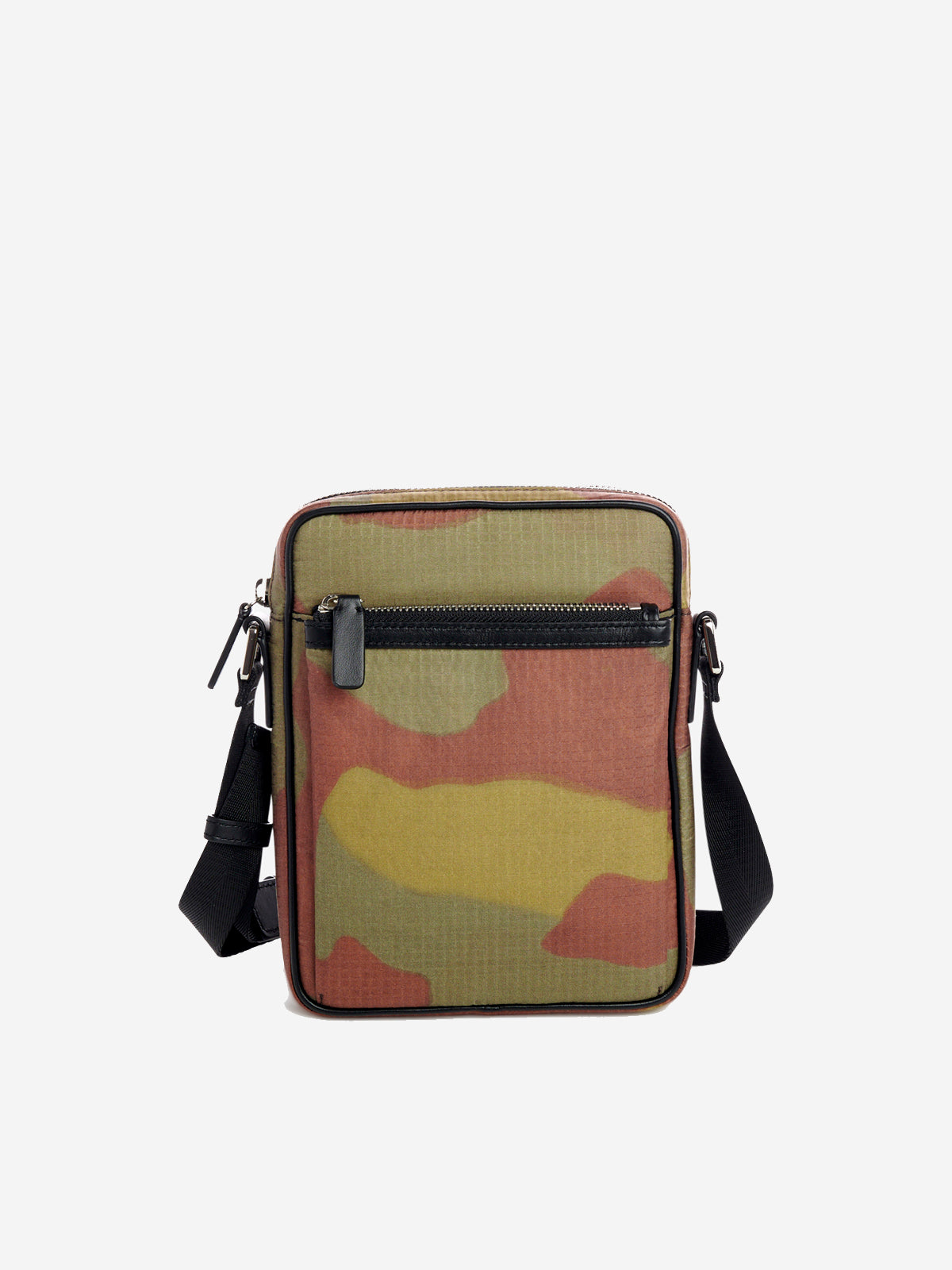 Camouflage print compact shoulder bag