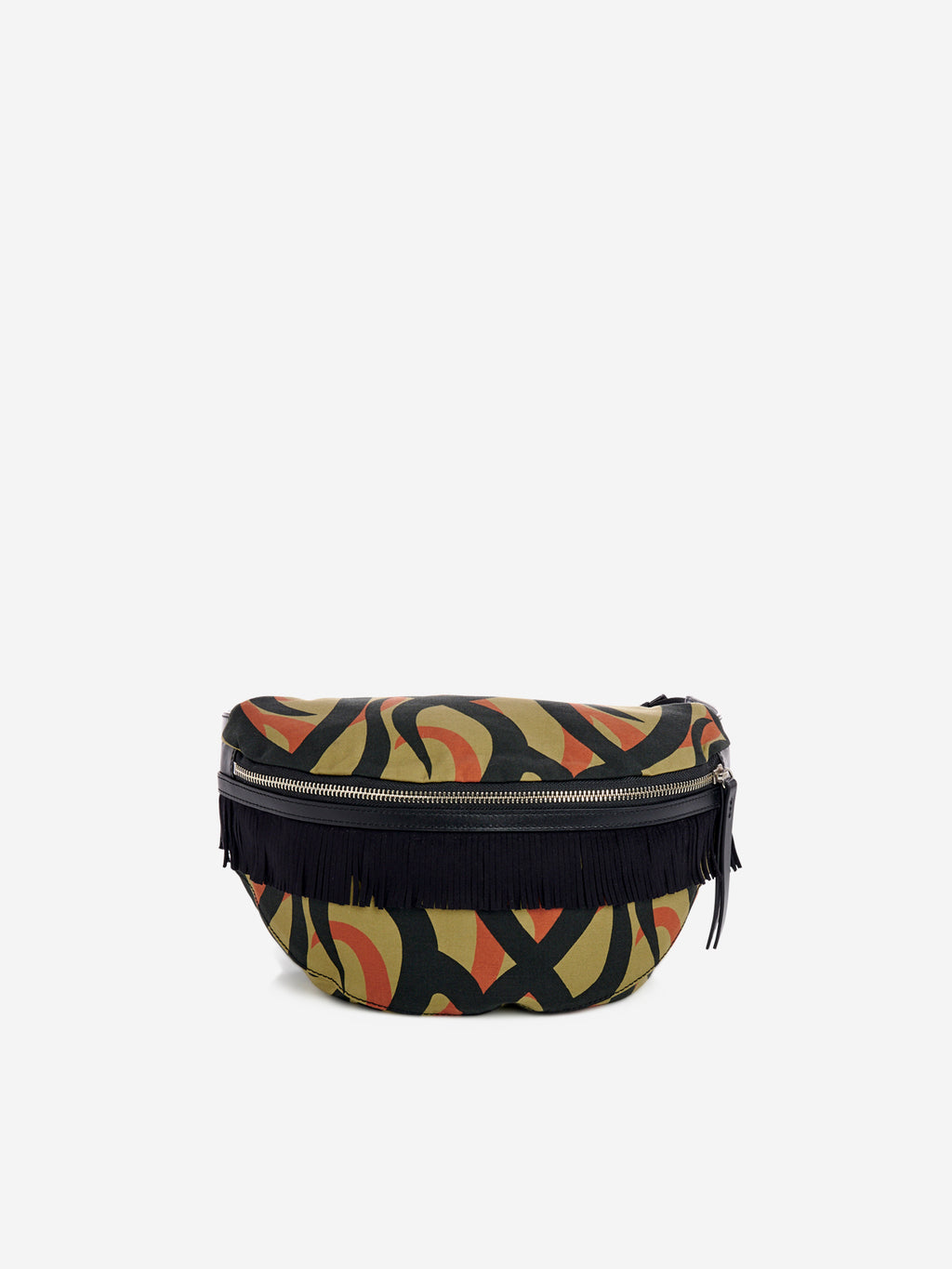 Abstract camouflage waist belt bag